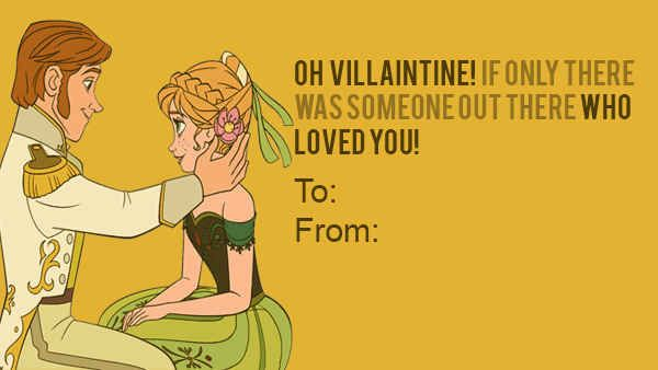 21 Wicked Disney Valentines Day Cards From Your Favorite Villains