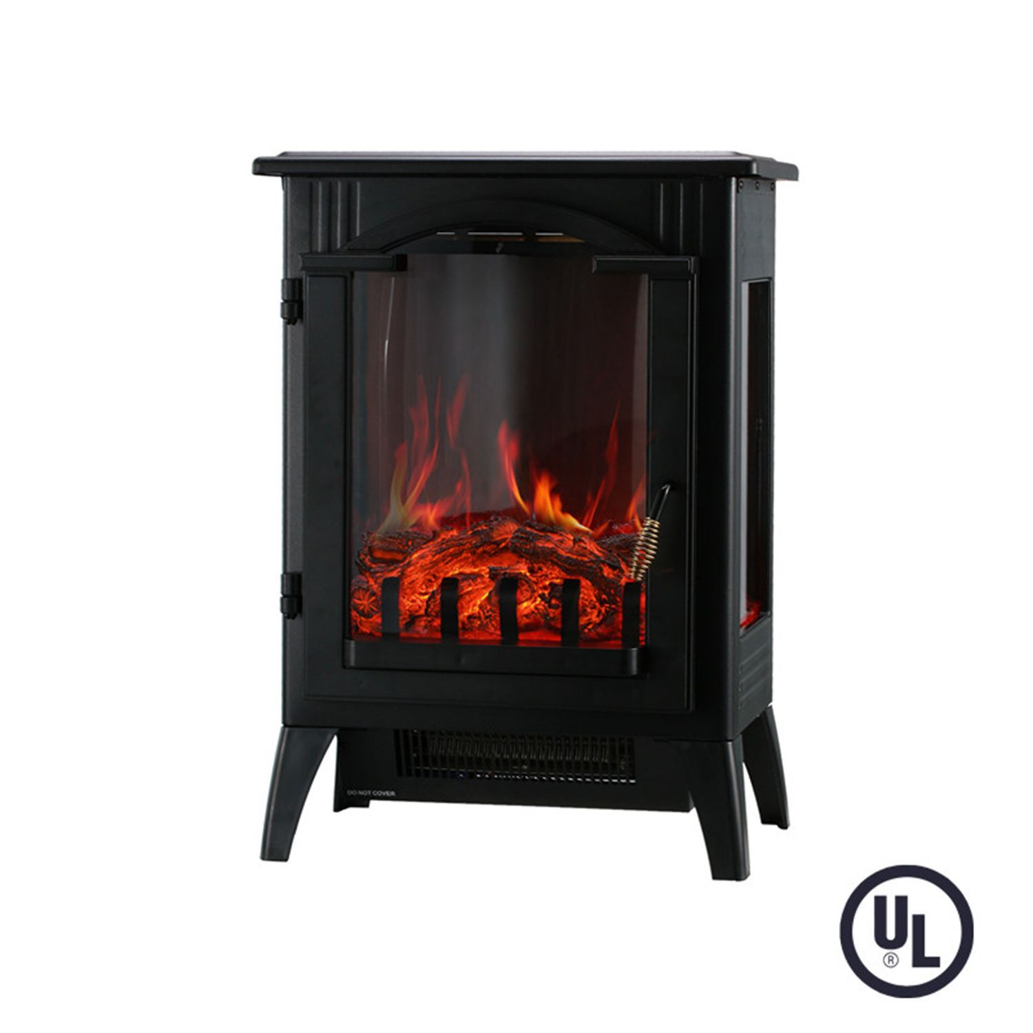 Portable Indoor Home Compact Electric Wood Stove Fireplace Heater With Thermostat For Office Electric Wood Stove Freestanding Fireplace Wood Stove Fireplace