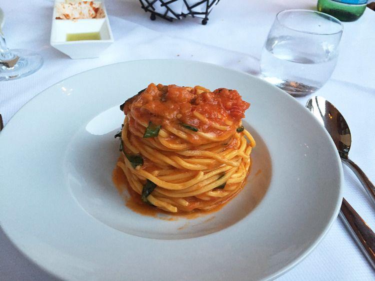 Scarpetta spaghetti with tomato and basil   via www.thelighterlist.com