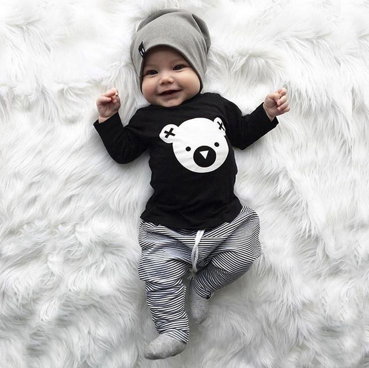 Photo of Cartoon Koala Baby Boy Top Gray Pants Set