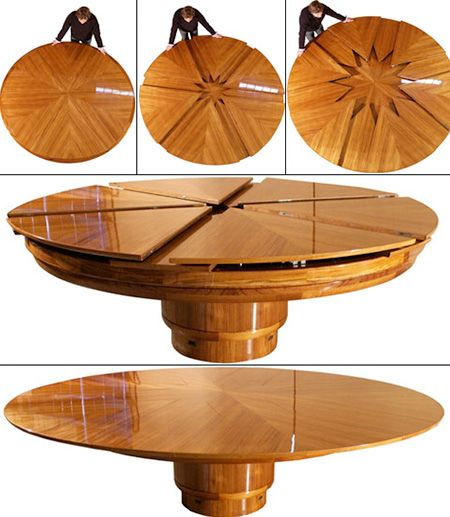 Transforming Fletcher Capstan Table Can Double In Size At Push Of On Techeblog