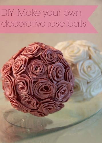 Diy Decor Balls Simple Diy Make Your Own Decorative Rose Balls  Home Decor  Pinterest Design Decoration