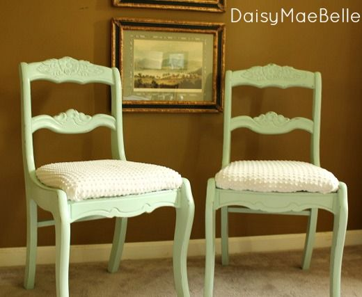 Mint Green Chalk Painted Chairs