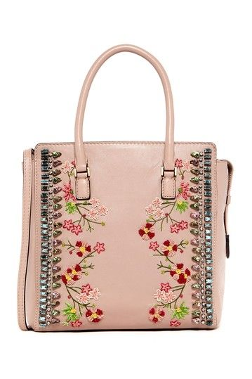 Valentino Floral Beaded & Crystal Tote by MSA Haute Couture Inc on @HauteLook