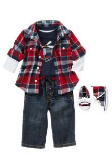 Cute spring outfit for baby boy
