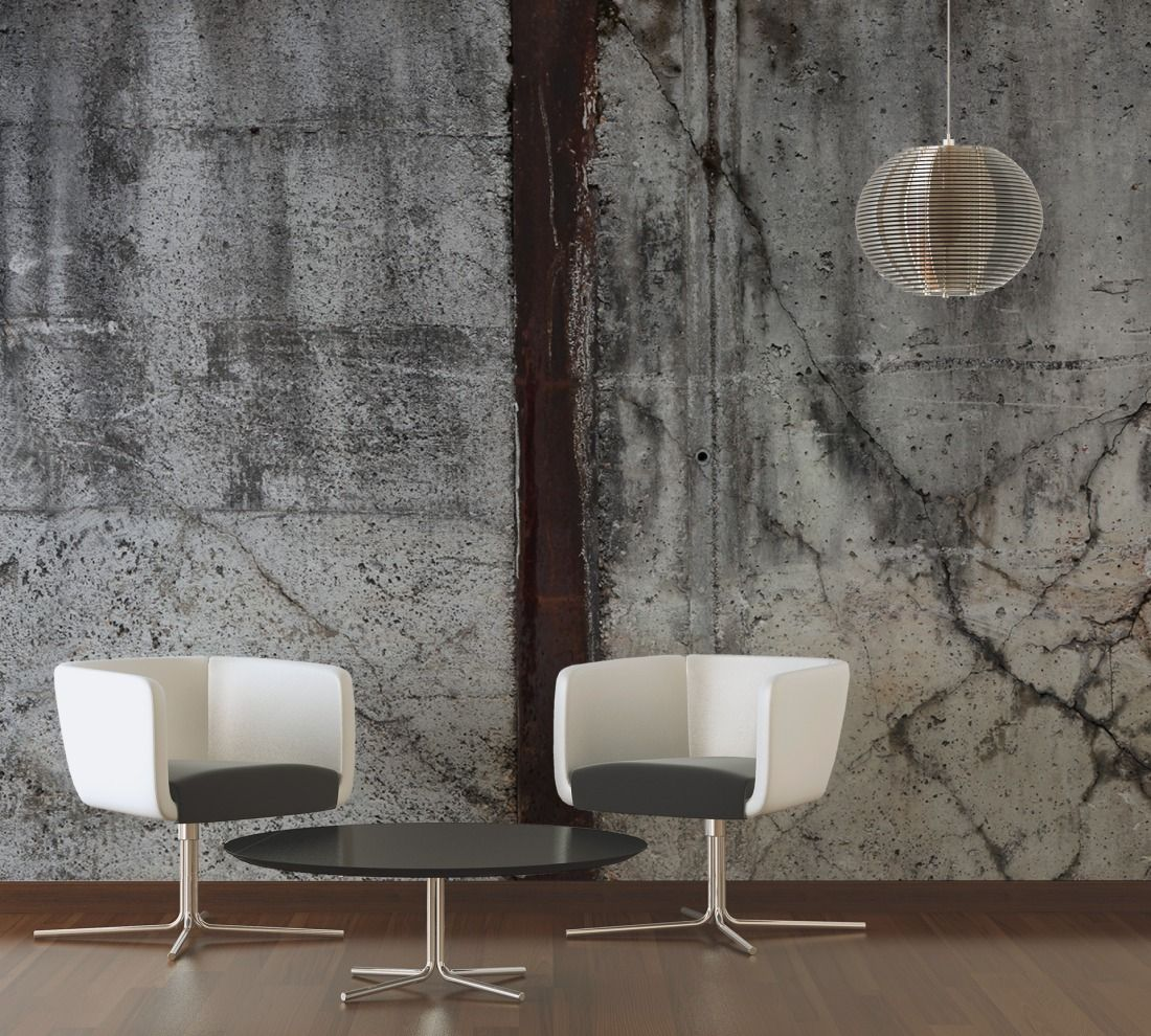 tapeten im wohnzimmer architects paper fototapete marode betonmauer 470129 oberfl chen. Black Bedroom Furniture Sets. Home Design Ideas