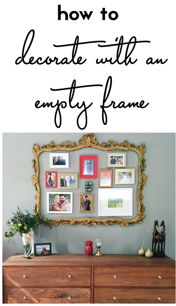 how to decorate with an empty frame - framing a gallery wall ...