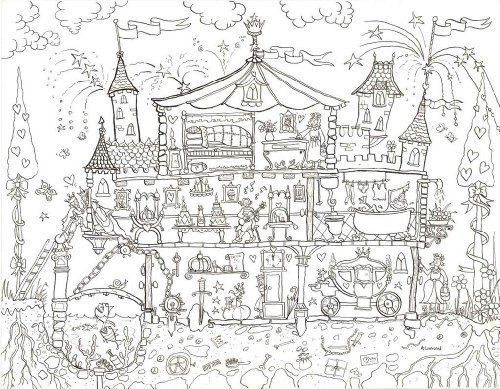 Princess Palace Colouring Poster - Giant Size: 100 x 75 cm ...