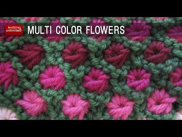 Multi color Aster Flowers | Knitting, Knitting stitches ...