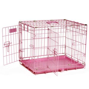 Precision Pet Products Provalu Two Door Dog Crate Wire Dog Crates Dog Crate Pink Dog Crate