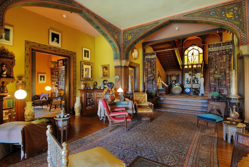 Olana Interior Main Stairs With Images American Houses