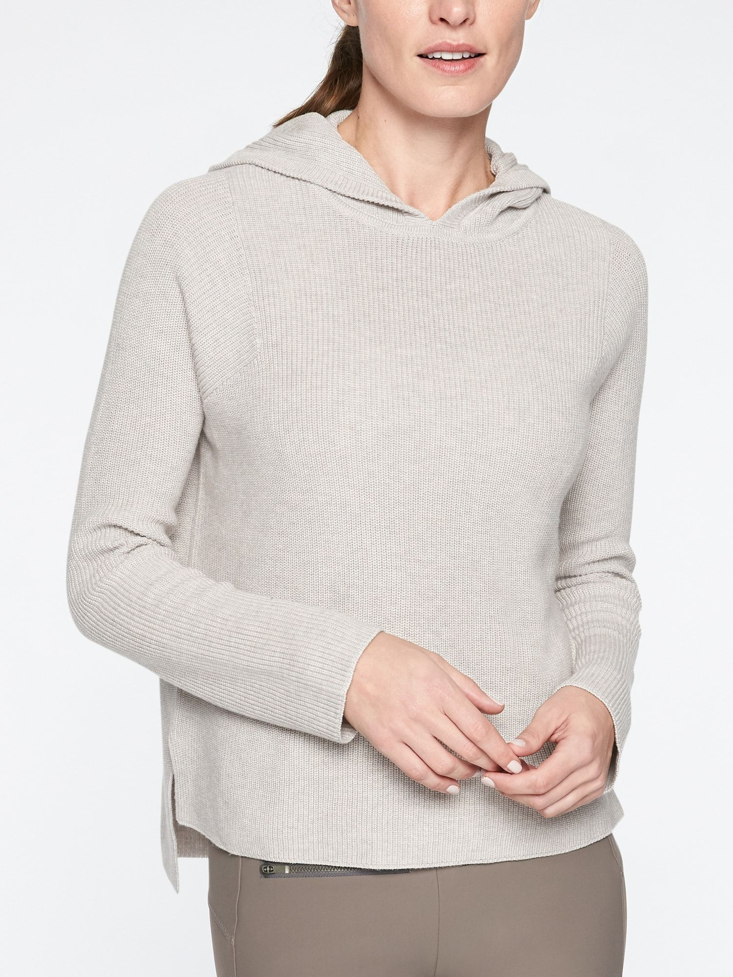 Athleta Sweater Hoodie I Like This Neutral Color Fashion Sweater Hoodie Womens Fashion Spring [ 2000 x 1500 Pixel ]