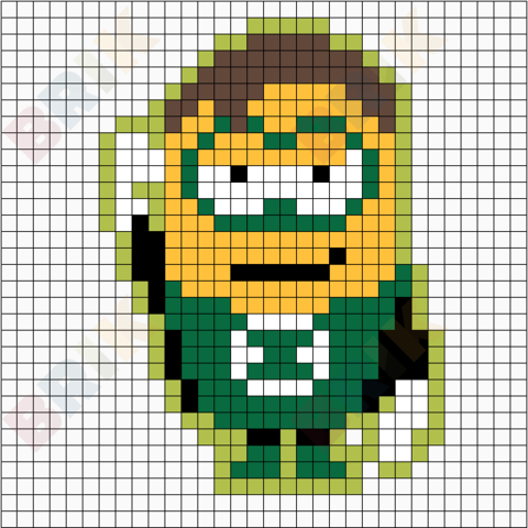 Minion Green Lantern Pixel Art Pixel Art Minion Superhero