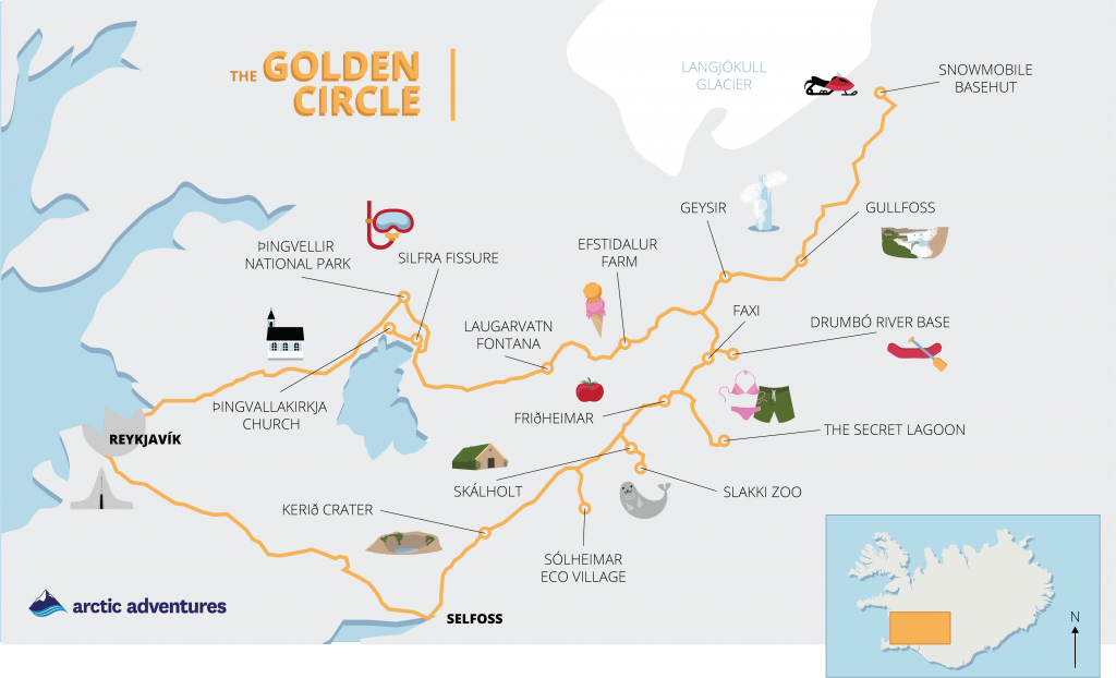 Golden Circle map with activity illustrations | Golden ... on uluru national park map, volcano national park map, landmannalaugar map, france national park map, simple plate tectonics map, vatnajokull national park map, surtsey map, iceland map, jokulsargljufur national park map, reykjavik map, block island attractions map, reykjanes peninsula map, strokkur geyser map, north dakota national parks map, jokulsarlon lagoon on map, redwood national park map, snaefellsnes peninsula map, theresienwiese map, rift zone map, thingvellir national parl map,
