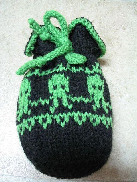 Cthulhu knit dice bag pattern | Crochet | Pinterest