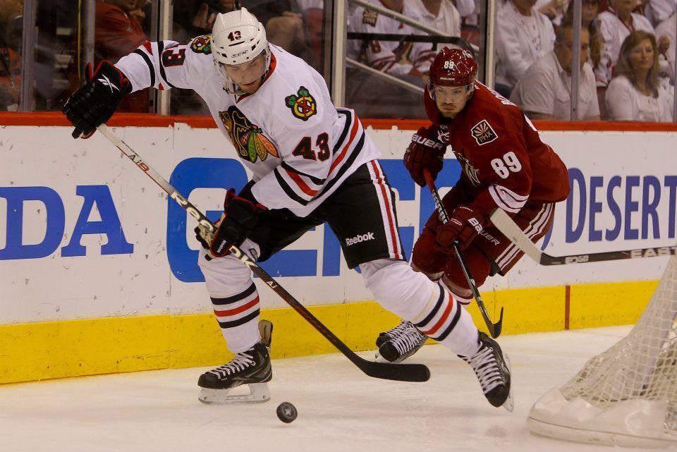 Get to ice level during the blackhawks game 5 win in