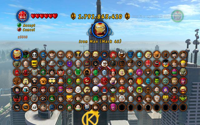 character selection in the game | Lego marvel, Marvel super ...