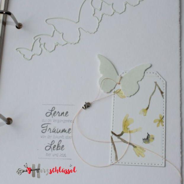 Herzschlüssel: GlückstagebuchGlückstagebuch, Stempel, Stampin Up, Alexandra Renke, BigShot, #DIY, Buchbinden, Memory Box, Erlebniswelt