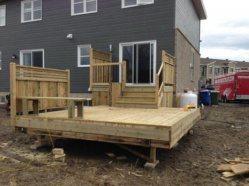 Patio de bois trait recherche google ext rieur maison for Modele de patio exterieur en bois