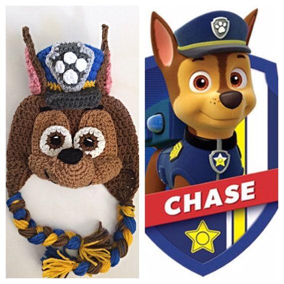 Crochet Paw Patrol Chase Inspired Hat PATTERN | Häkeln