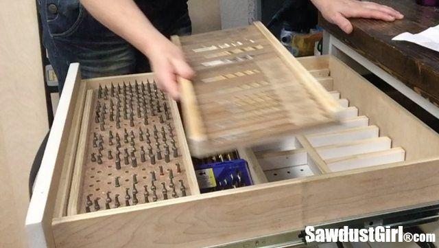 Drill Bit Storage Tray Woodworking Garage Woodworking