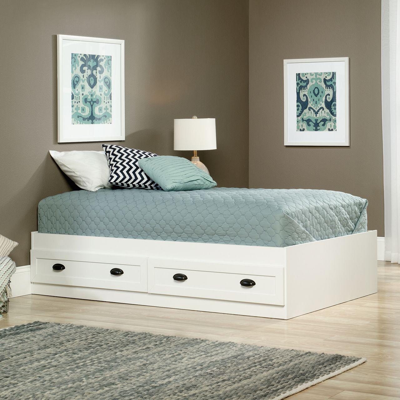 Furniture  Sauder County Line Twin Platform Bed 418535 Beds Platform and. Purple Green Bedroom   Descargas Mundiales com