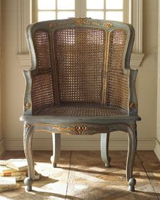 love this painted cane chair