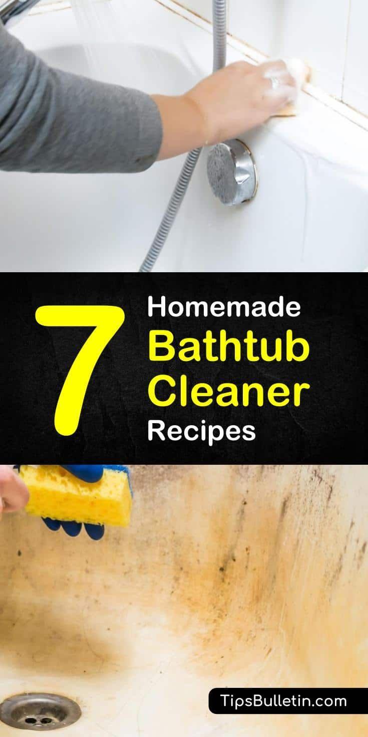 how to clean a nasty bathtub