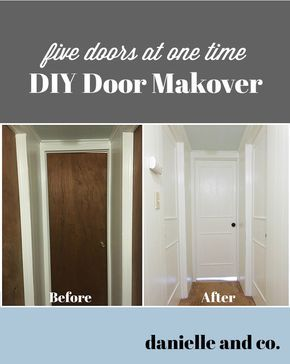 DIY Interior Door Makeover (Five Doors At Once!)