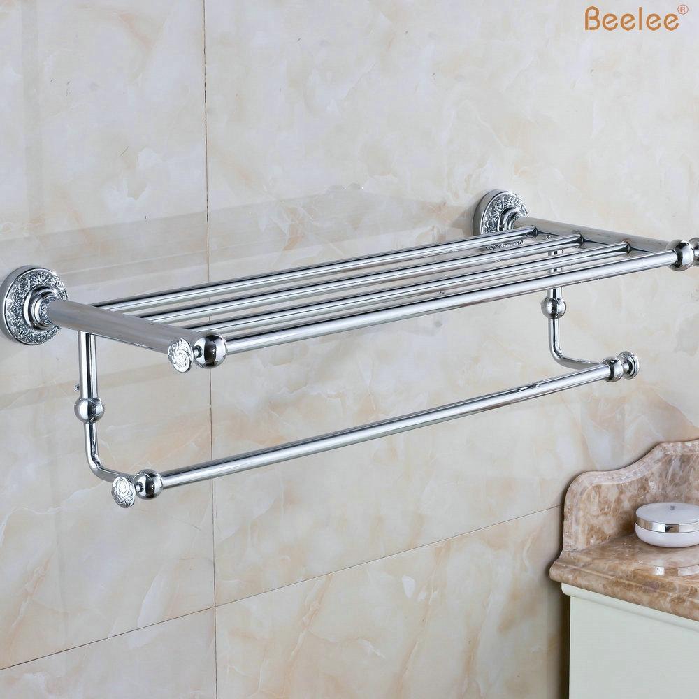 125.00$ Buy here - Beelee BL8404C 60CM Brass Wall Mounted Bathroom ...