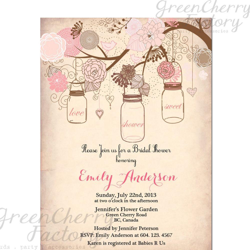 Vintage Bridal Shower Invitation Templates Free