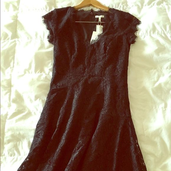 Joie dress Size 2. NWT. Black lace dress with cap sleeves. Not For Love and Lemons the brand is Joie. For Love and Lemons Dresses Mini