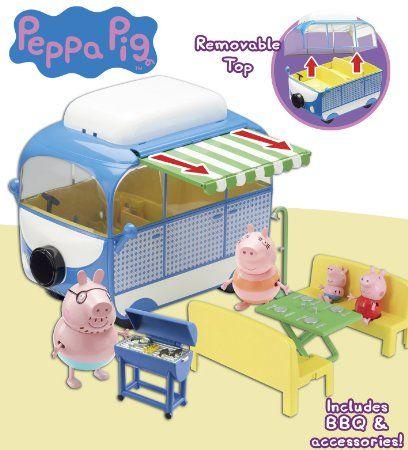 Peppa Pig Le Camping Car De Vacances Vehicule Et Figurines Amazon Fr Jeux Et Jouets Maison Peppa Pig Camping Peppa Pig