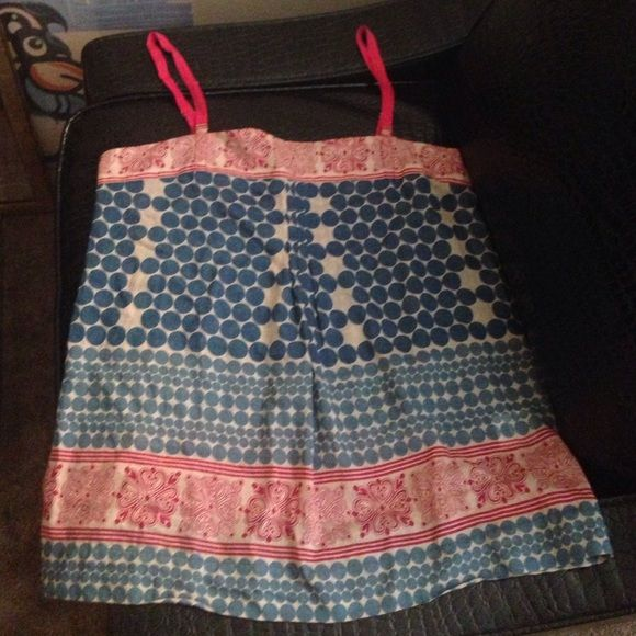 Joie tank Adjustable straps, Sz M, needs to be ironed. Good condition. Joie Tops Tank Tops