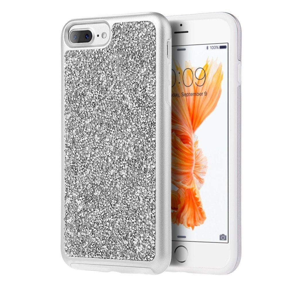 Luxmo Platinum Diamond Iphone 7 Plus 8 Case Silver Spigen Crystal Shell For Dark