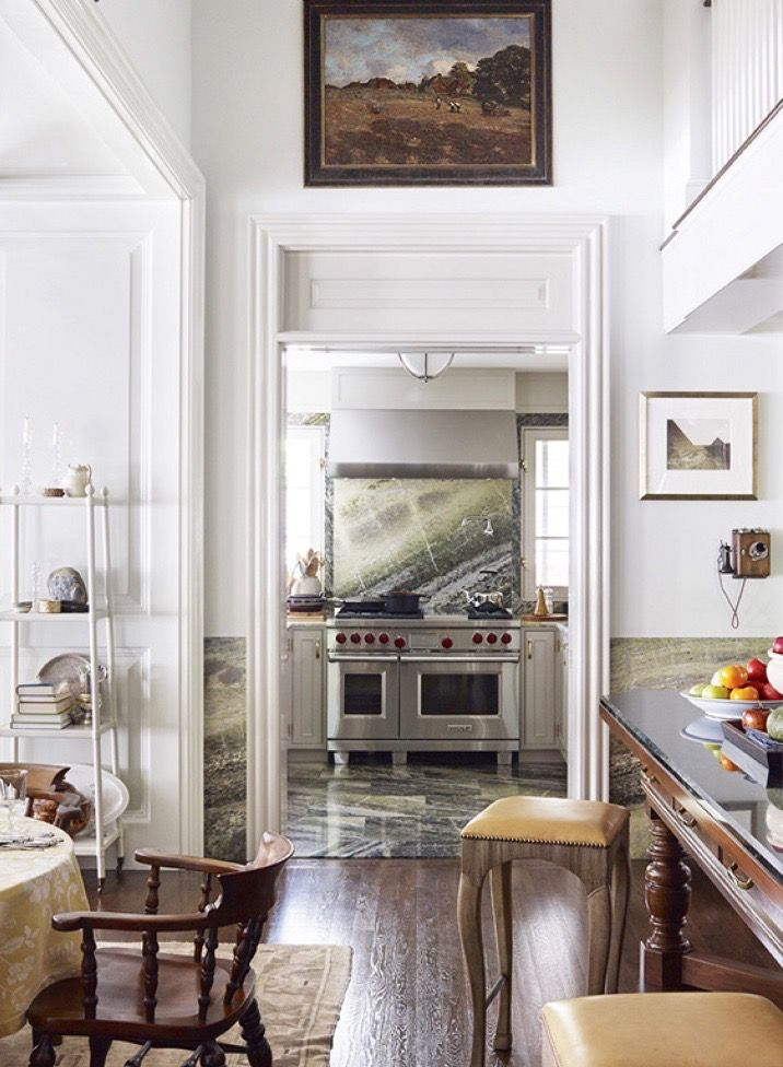 The Kitchen At Designers Thomas Ou0027Brien And Dan Finku0027s Long Island  Residence, The Library. | Design In 2018 | Pinterest | Long Island, Kitchens  And American ...