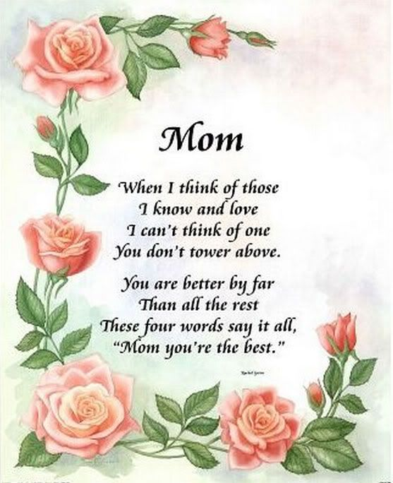 Mothers Day Poems In Graphics : Lets Celebrate!