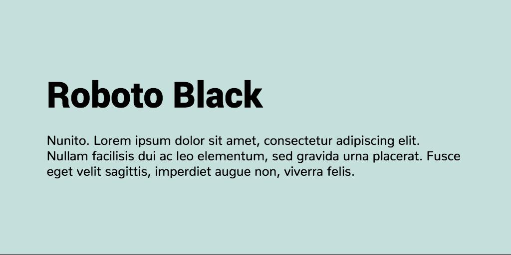 Roboto & Nunito font combination   Font Pairings   Font