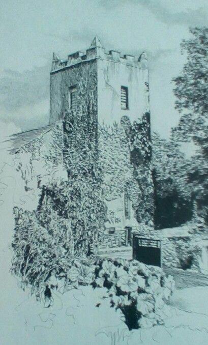 Grassmere Church, English Lake District, original drawing by Karl Stedman, kstedmanart@aol.com