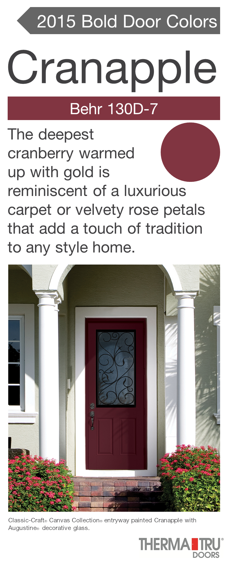Classic-Craft Canvas Collection fiberglass door painted Cranapple ...