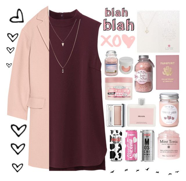 """🛍"" by parkmona ❤ liked on Polyvore featuring DKNY, Uniqlo, Dogeared, Jardin, Prada, Moschino, Soap & Glory, Clinique, Chantecaille and Yankee Candle"