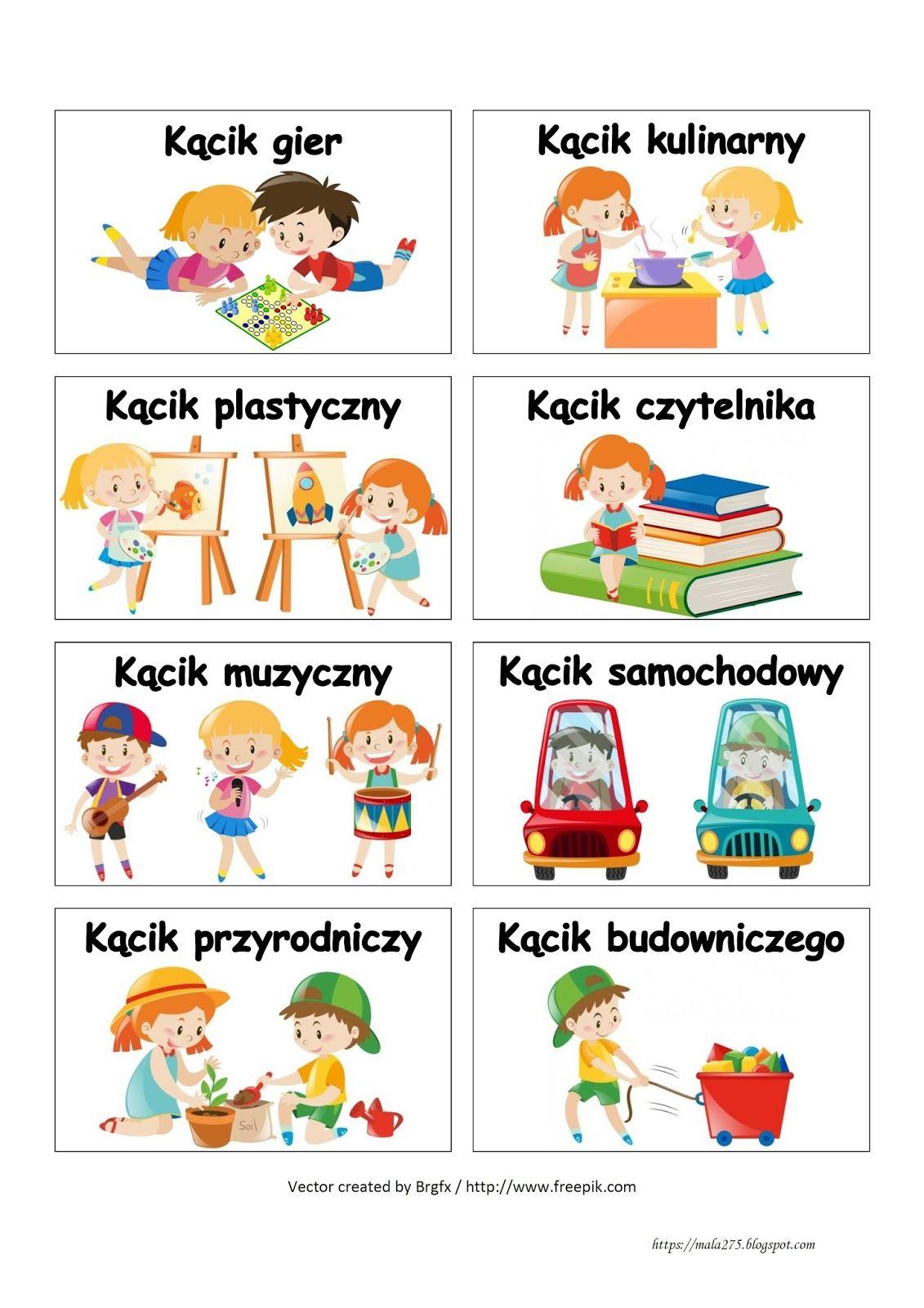 Blog Edukacyjny Dla Dzieci Wizytowki Do Kacikow Przedszkole Kids Education Kids Learning Kids And Parenting