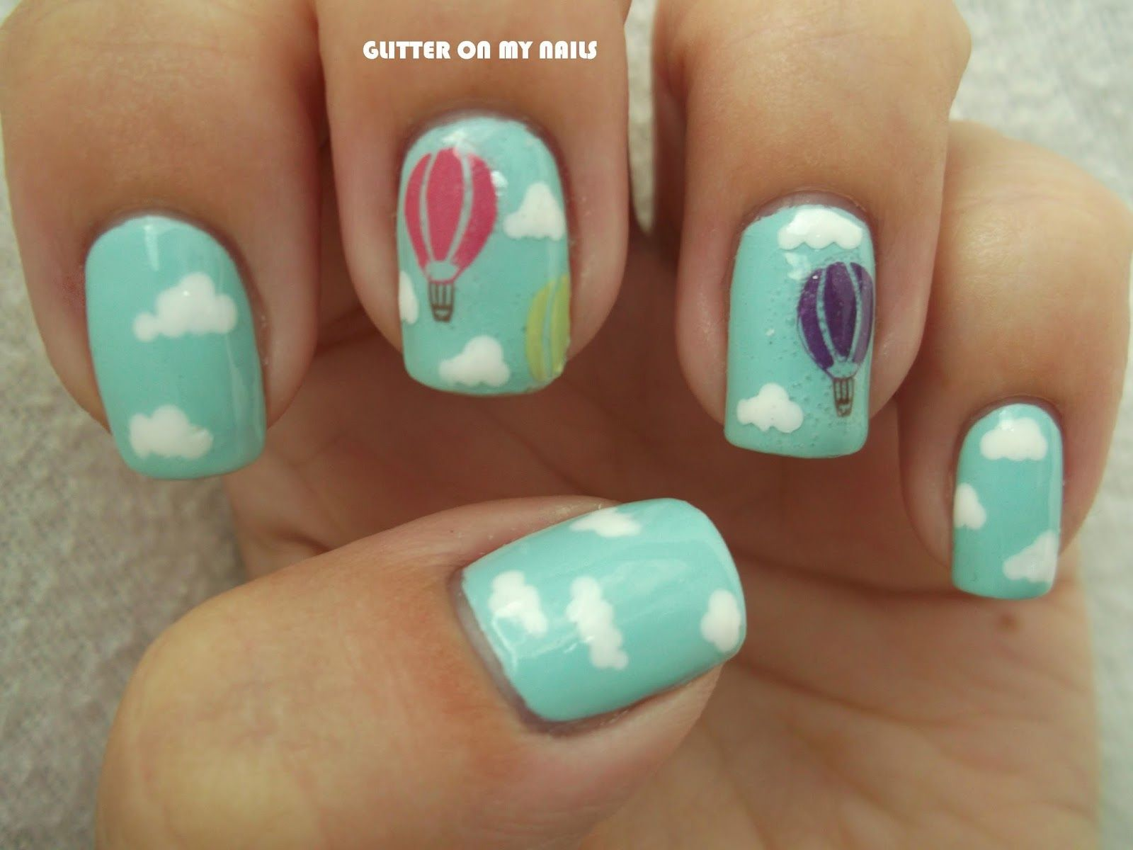 Glitter on my nails hot air balloons nail art nail art all glitter on my nails hot air balloons nail art prinsesfo Choice Image