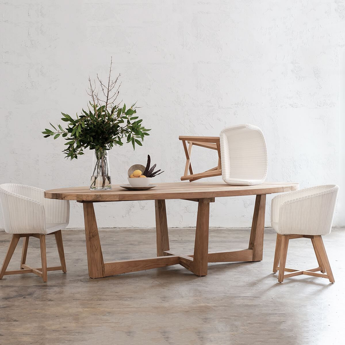 Florence Reclaimed Teak Oval Dining Table 2 6m In 2020 Dining