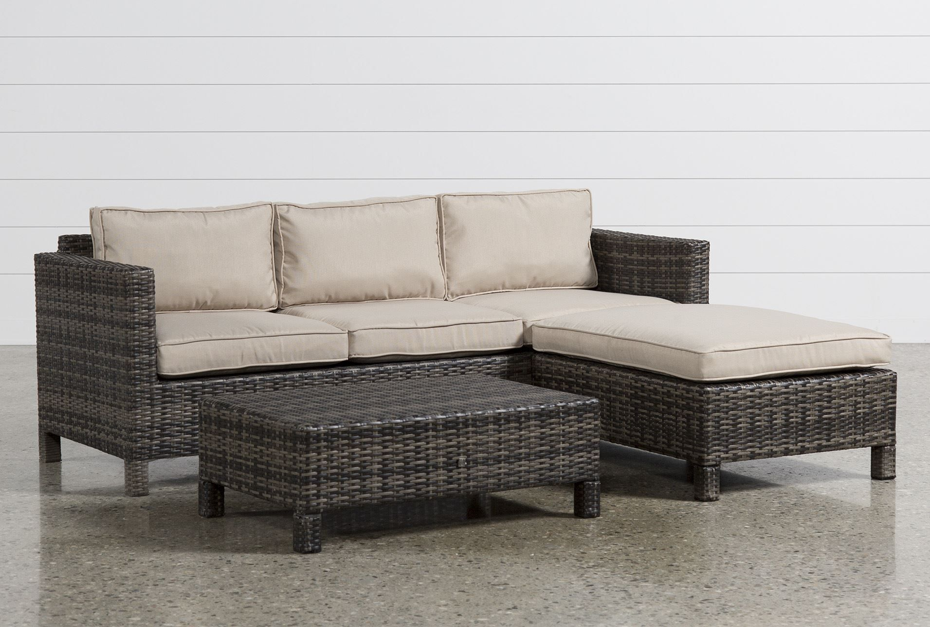 Montego Ii Sofa W Reversible Chaise Patio Furniture Sets Patio Seating Shabby Chic Patio