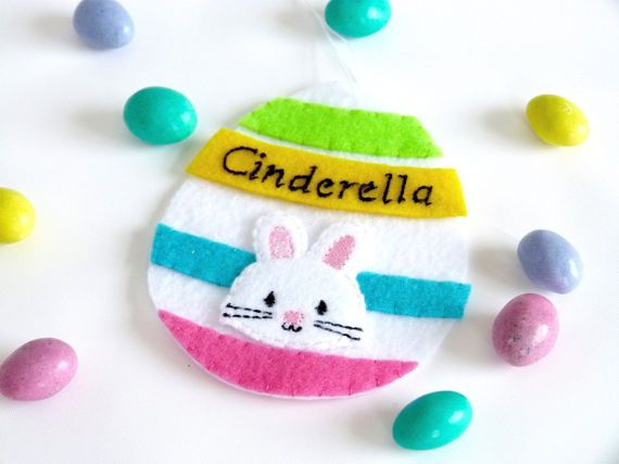 Easter ornament egg ornament personalized ornament gift card easter egg felt ornament gift card holder by hometownusa on etsy negle Choice Image