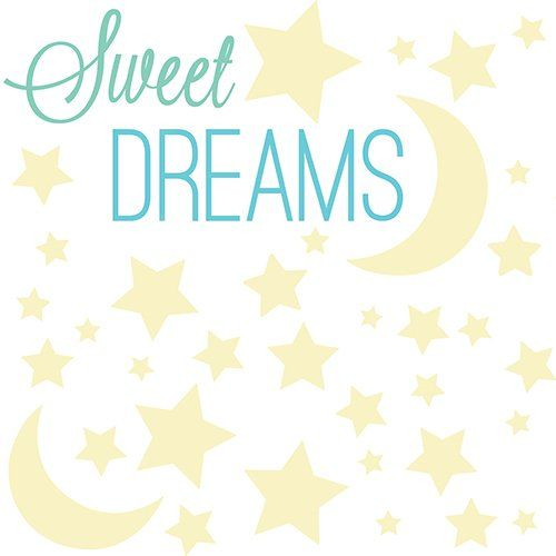 RoomMates RMK3092SCS Sweet Dreams Glow In The Dark Peel And Stick Wall  Decals ***