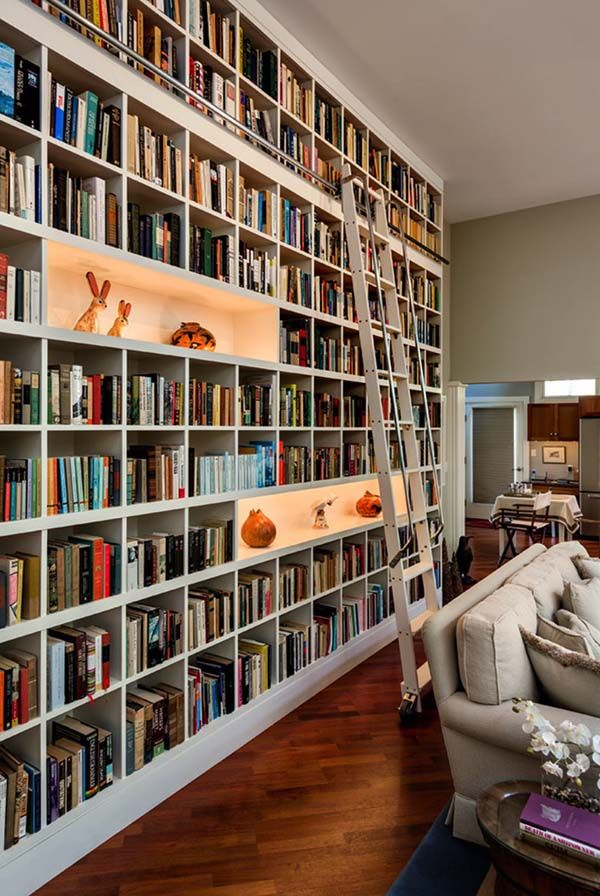 50 Super Ideas For Your Home Library  50Th Interiors And Books Impressive Living Room Library Design Review