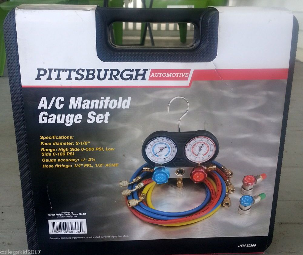 Pittsburgh automotive r134a a c manifold gauge set p n 60806 pittsburgh