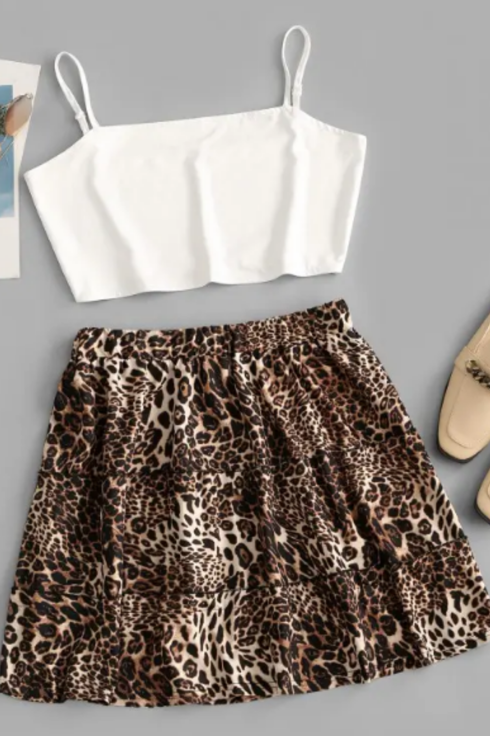 cute leopard skirt outfit for this summer 2020 Click Now ! #skirtoutfit #summeroutfits
